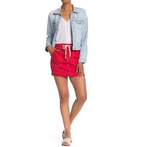 Sanctuary Peace March  Miniskirt Red XXS NEW NWT